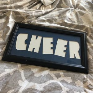 CHEER Photo Collage Frame